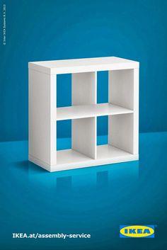 Muebles de IKEA imposibles, estantería
