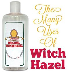 Amazing Witch HazelFacial Cleansing Acne Treatment Scars Stretch Marks Soothe Diaper Rash Bags Under The Eyes Varicose Veins Soothe Chicken Pox Blisters Heal Bruises Faster Heal Cuts and Scrapes Soothe Razor Burn Treat Sunburn Treat Dry Skin Herbal Remedies, Health Remedies, Home Remedies, Natural Remedies, Poison Oak Remedies, Beauty Secrets, Beauty Hacks, Beauty Products, Natural Products