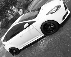 Ford Focus ST Like,Share & Follow @CarSpotter95 2012 Ford Focus, Black Rims, First Car, Saints, Track, Street, Vehicles, Cars, Party