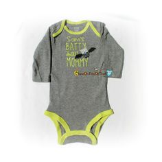 New to ChewOnThisOrThat on Etsy: Batty About Mommy Baby's First Halloween Onesie - Personalized Baby Name Bodysuit Top Outfit (12.00 USD)