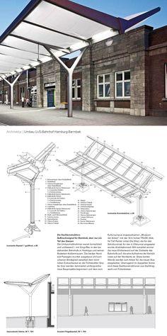 Construction details, Bahnhof Hamburg-Barmbek, Source: DBZ Deutsche Bauzeitung 04/2013 www.dbz.de