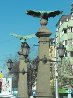 Eagles Bridge in Sofia, Bulgaria