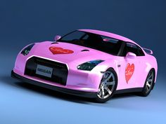 Pretty in Pink Nissan GTR:  In honor of Breast Cancer Awareness month!