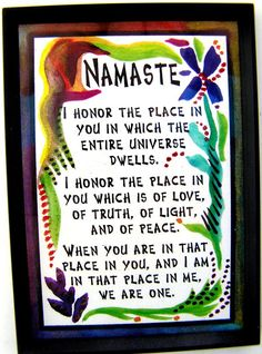 NAMASTE Inspirational Magnet YOGA Meditation by Heartfulart, $5.00