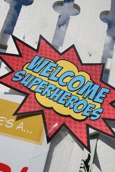 "Photo 1 of 22: Superhero / Birthday ""Vintage Superhero Party!"" | Catch My Party"