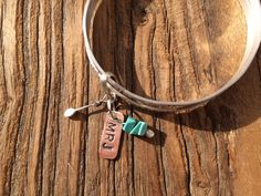 Carpe Diem XII Sterling Silver bangles with turquoise charms. on Etsy, $131.06 AUD