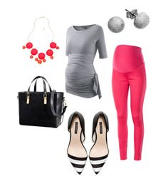 #Spring #Maternity #Fashion Trends by thislilpiglet.net in Watermelon & Grey