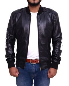 d8f99a582 17 Best 8 Ball Men Bomber Black Leather Jacket images in 2018 ...