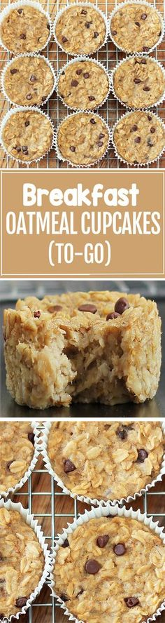 Cook just once, and you get breakfast for an entire month with these healthy bak. Cook just once, and you get breakfast for an entire month with these healthy baked oatmeal cupcakes Breakfast Dishes, Breakfast Recipes, Breakfast Ideas, Breakfast Healthy, Breakfast Casserole, Breakfast Fruit, Sweet Breakfast, Dinner Recipes, Oatmeal Breakfast Bars