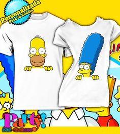 Playera Personalizada Simpson Homero & March - Jinx Jinx, playera, fiesta, personalizada, evento, ropa, camiseta, cumpleaños, programa, niños, trajes