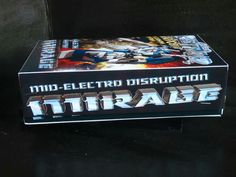 #custranz Mid-electro disruption Mirage #handmade #packaging #graphicdesign #branding #customtransformer #boxart #art #transformers