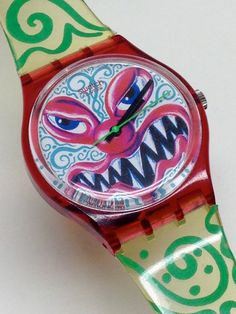 Vintage Swatch Watch Monster Time Kenny Scharf by ThatIsSoFunny