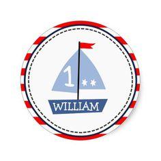 kids personalized nautical sticker