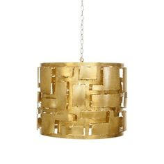 """""""Brutalist"""" Style Pendant Chandelier available in Gold Leaf or Champagne Silver Leaf. Pendant has an interior light chandelier socket cluster. Each socket is UL approved for 1 40 watt chandelier bulb. Comes with antique bra 3 Light Pendant, Chandelier Shades, Pendant Chandelier, Chandelier Pendant Lights, Leaf Pendant, Chandeliers, Drum Pendant, Gold Pendant, Champagne"""