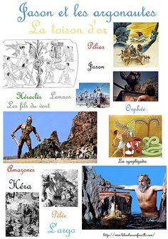 Le mythe de la Toison d'or avec Jason et les argonautes...