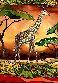 Kris, MODERN, ethnical, paintings, PLKKE174,#n# étnico, illustrations, pinturas