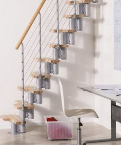 """Kya Space Saver Staircase DIY Kit by Arkè.  What a great idea for """"the Treehouse!""""  With all the lofts in the bedrooms, this would be an excellent alternative to the modified ladders all over the place!"""