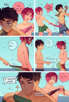 Free! | Rin | Sousuke | 5 years later...