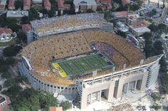 lsu stadium aerial view on game day