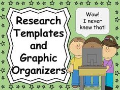Use these handy research templates and graphic organizers (5 attached) to help your students with research projects! Students can write or draw about what they learned about a particular topic. Great for beginning researchers!!! Samples are shown in the preview.