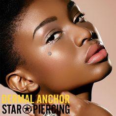 Dermal Anchor, Piercing, Opal, Stars, Dark Blue, Dermal Piercing, Pierced Earrings, Opals, Sterne