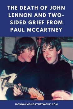 On the morning of December 1980 Paul McCartney received the call that his old friend, John Lennon, was dead. John Lennon Death, Rock And Roll Artists, Monday Monday, Rockabilly Hair, Rock N Roll Music, Live Rock, Paul Mccartney, Grief, The Beatles