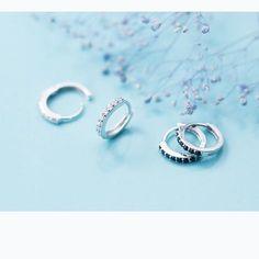 Silver Rounds, Aliexpress, Fashion Jewelry, Hoop Earrings, Sterling Silver, Minimalist, Women, Top, Silver Jewellery