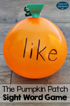 The Pumpkin Patch Sight Word Game is a fun way to get children active and moving while they learn their sight words.