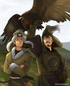 Mongolia and Genghis Khan - Coloured version of http://www.pinterest.com/pin/398076054535178978/ - Art by ctcsherry.tumblr.com