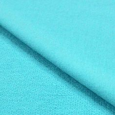 Aqua Blue Solid Cotton Spandex French Terry Knit Fabric