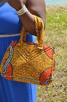 Orange And Burnt Orange Bag by ZabbaDesigns on Etsy, $25.00