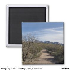 Pretty Day In The Desert 2 Inch Square Magnet