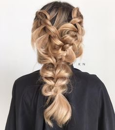 "103 Likes, 9 Comments - Orange County Hairstylist (@kimberlynicolehair) on Instagram: ""A little Dutch braid here...a little pull through braid there... so fun getting creative with…"""