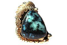 Navajo Bisbee Mine Turquoise Ring