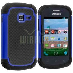 For Samsung Galaxy Discover Centura Hybrid Shockproof Case Cover Matte Blue