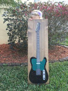 Arte de cadena CUSTOM guitarra eléctrica por KiwiStrings en Etsy