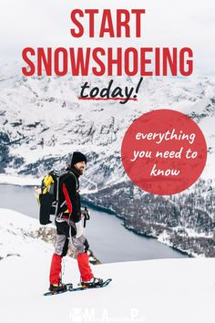 Snowshoeing tips to help beginners hit the trail today. Covers choosing gear, finding good trails, what to wear, and more. #snowshoeing #winter #missadventurepants Winter Hiking, Winter Camping, Winter Travel, Hiking Tips, Hiking Gear, Running Tips, Trail Running, Adventure Quotes, Adventure Travel