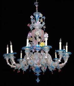 Venetian Glass Chandelier, circa 1860