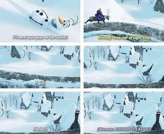 Stay out of sight, Olaf!