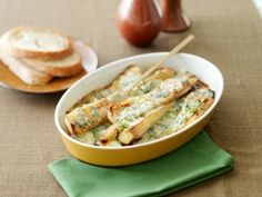 Roasted parsnips with horseradish-herb butter
