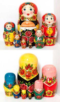 Полховская матрешка - Авторская матрешка художественная и с портретами по фотографиям - Zen Designer
