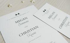 Wedding invitation - Simplicity © Paper Wedding 2014 From the Off-the-Rack collection: http://www.paperwedding.co.nz/#!off-the-rack-designs/c1dlq
