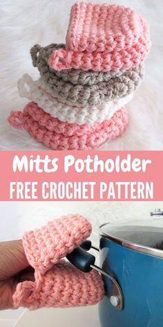 Crochet Hot Pads, Knit Or Crochet, Crochet Gifts, Cute Crochet, Crochet Potholders, Free Crochet Potholder Patterns, Free Crochet Patterns For Beginners, Crochet Scrubbies, Free Pattern