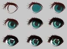Eyes step by step by ryky.deviantart.com on @DeviantArt