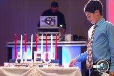 Alec's Jewish Bar Mitzvah Party Photography cake at Hilton Hotel