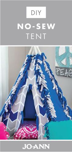 Giving your kids a place to read and relax can be so necessary. And with this project for a No-Sew Tent from Jo-Ann, it couldn't be easier to do just that! Grab your kids' favorite colors of fleece fabric to get started on this unique DIY.