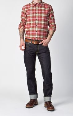CULTIZM - Carefully selected menswear since Shop over 100 brands in our online shop. Casual Look For Men, Casual Looks, Men Casual, Summer Outfits, Casual Outfits, Fashion Outfits, Men's Outfits, Raw Denim, Check Shirt
