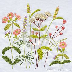 Handmade Flower Embroidery