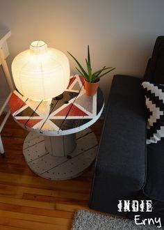 touret_bobine_cable-stool_diy5 Wooden Spools, Decoration, Diy, Furniture, Design, Boutique, Home Decor, Gardens, Wooden Cable Spools