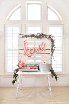 "DIY ""Love""ly Yoplait Yogurt Bar styled by Kara's Party Ideas Deco Baby Shower, Baby Shower Vintage, Baby Shower Backdrop, Shower Party, Baby Shower Parties, Bridal Shower, Shower Favors, Baby Showers, Dessert Party"